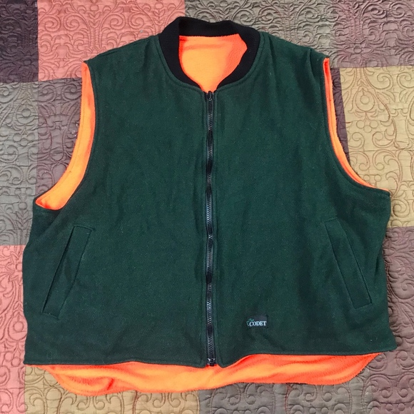 4ebb46a407db1 Codet Jackets & Coats | Green Wool Orange Fleece Hunting Vest | Poshmark